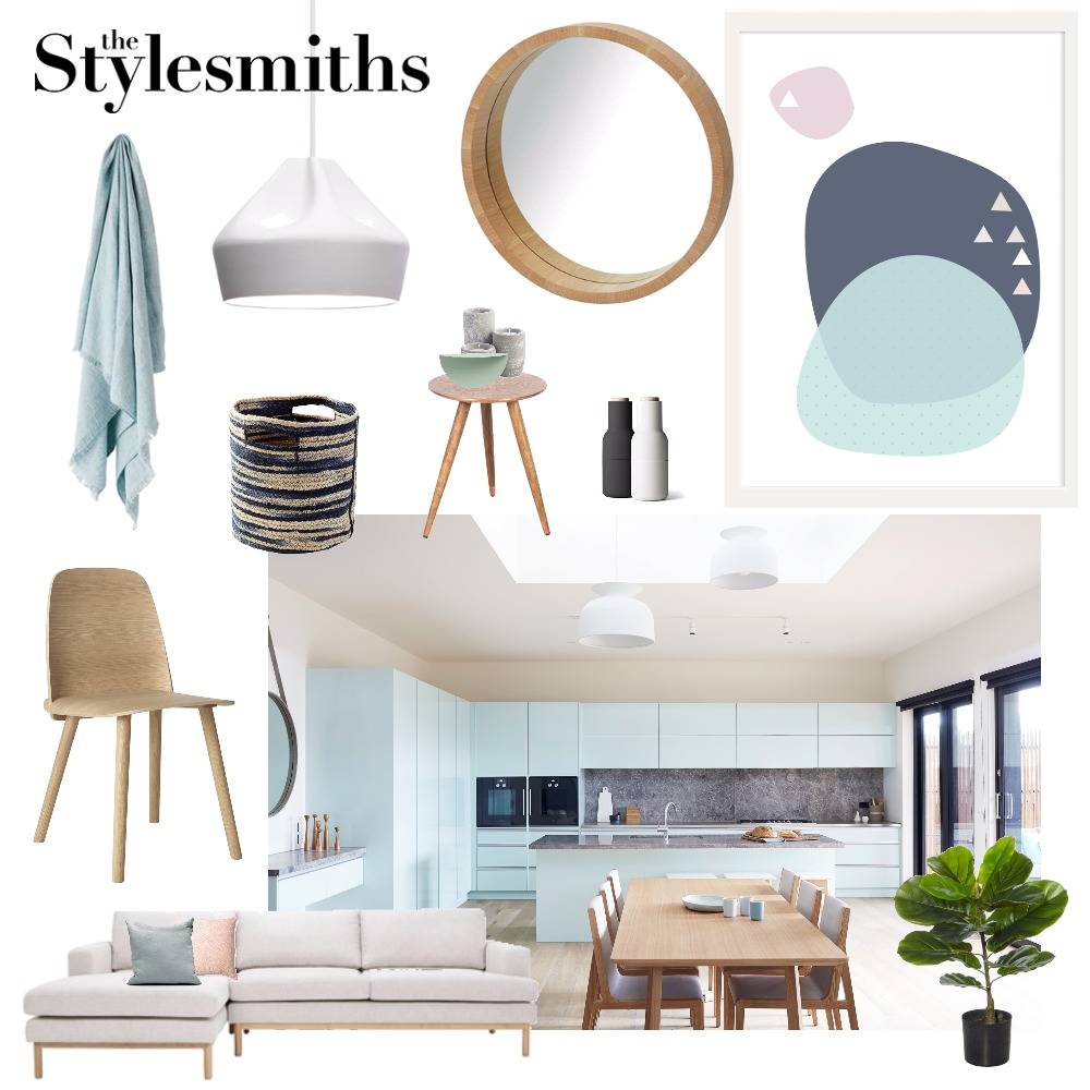 Scandi Colour Pop Interior Design Mood Board by The Stylesmiths on Style Sourcebook