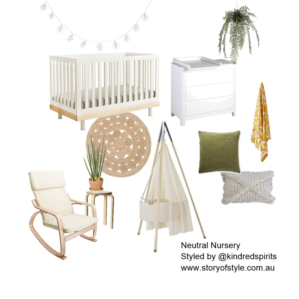 Neutral Nursery Mood Board by StoryOfStyle on Style Sourcebook