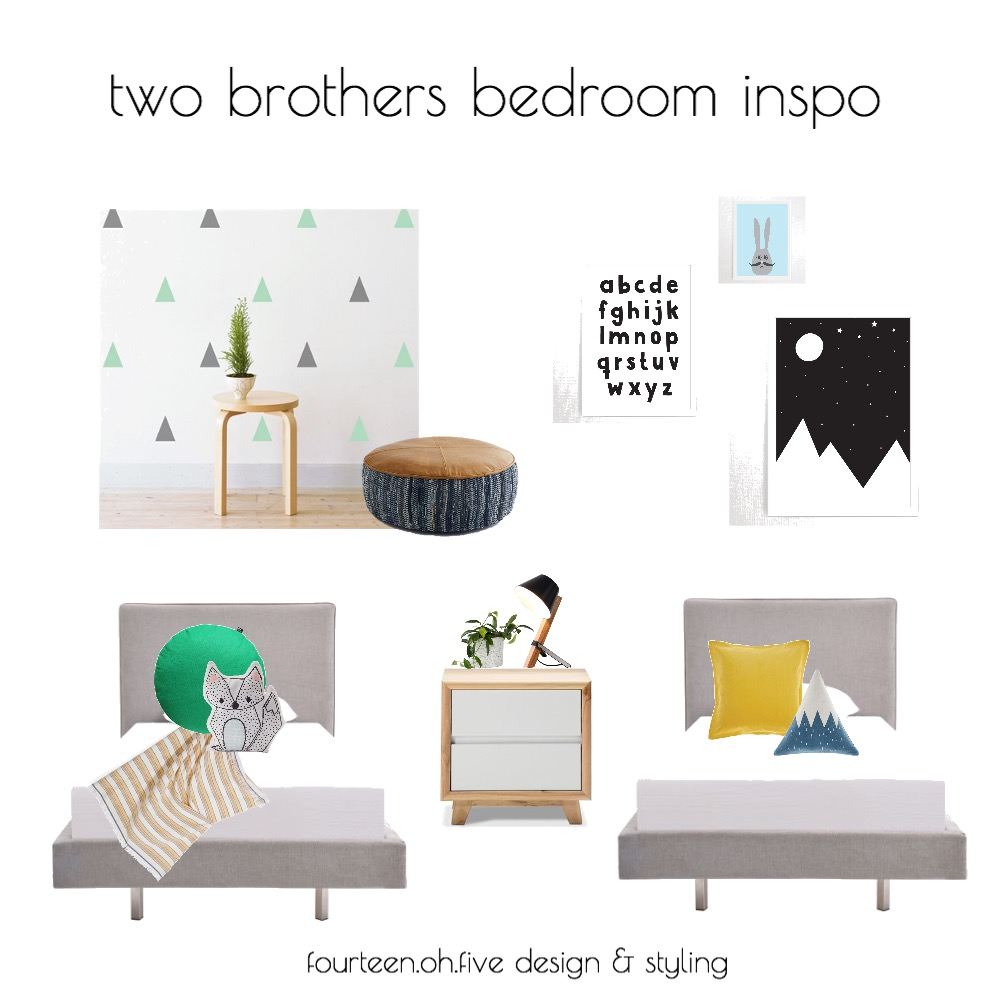 two brothers bedroom inspo Mood Board by fourteen.oh.five on Style Sourcebook