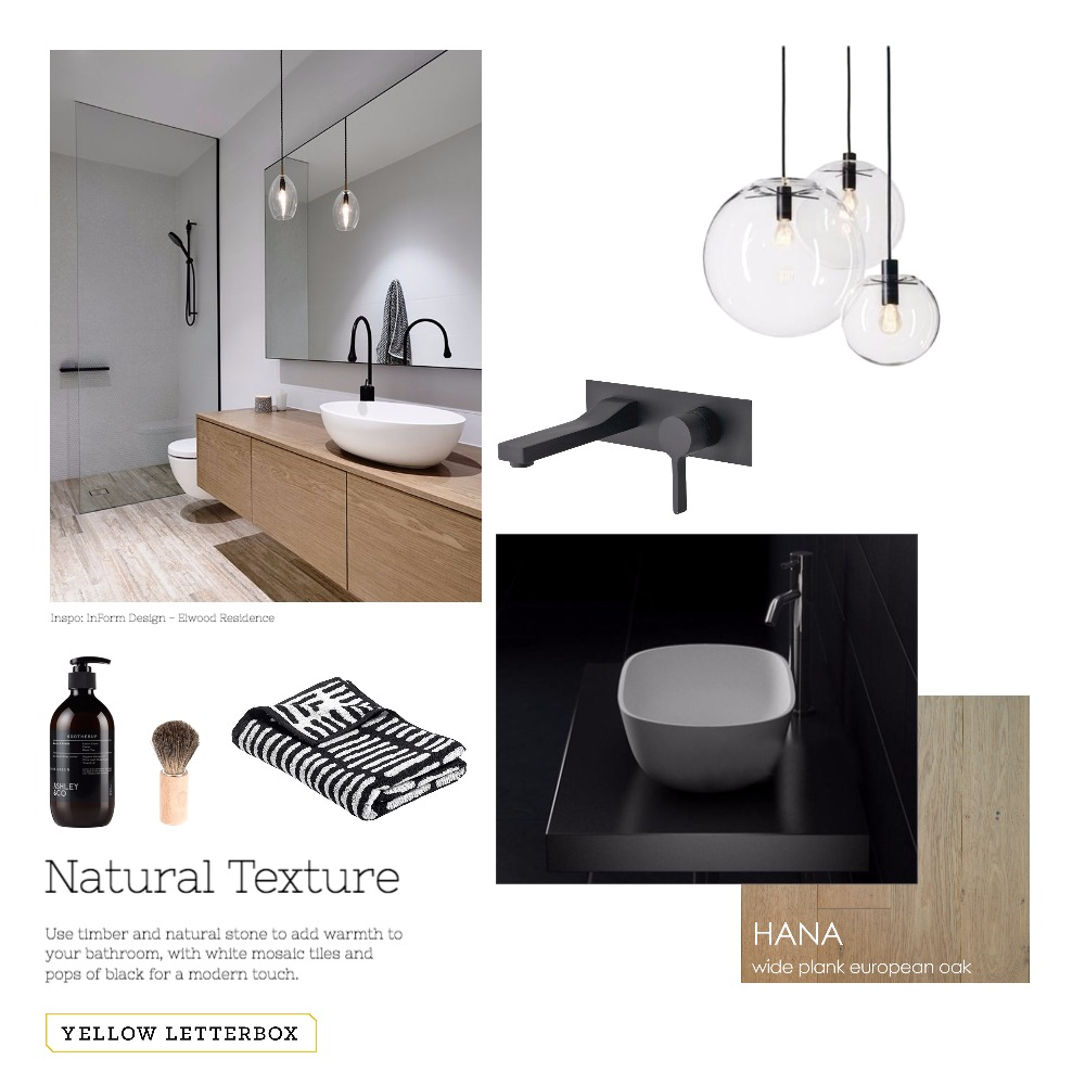 Natural textures bathroom Mood Board by Yellow Letterbox on Style Sourcebook