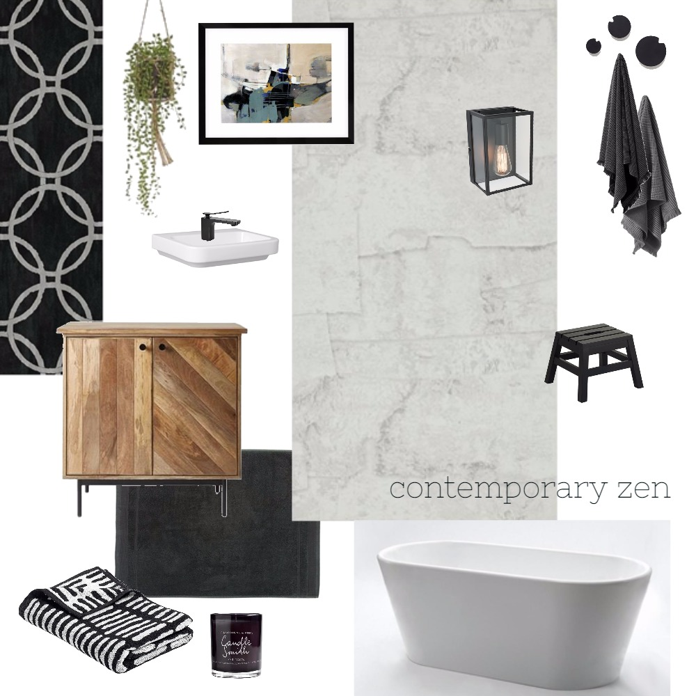 Contemporary Zen Interior Design Mood Board by Brooke Fiddaman on Style Sourcebook