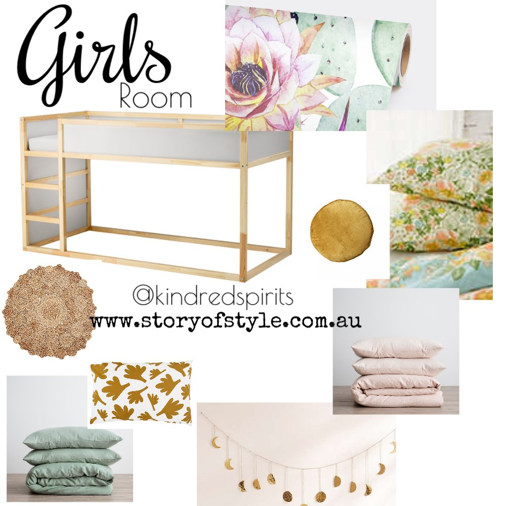 Girl's Room Mood Board by StoryOfStyle on Style Sourcebook