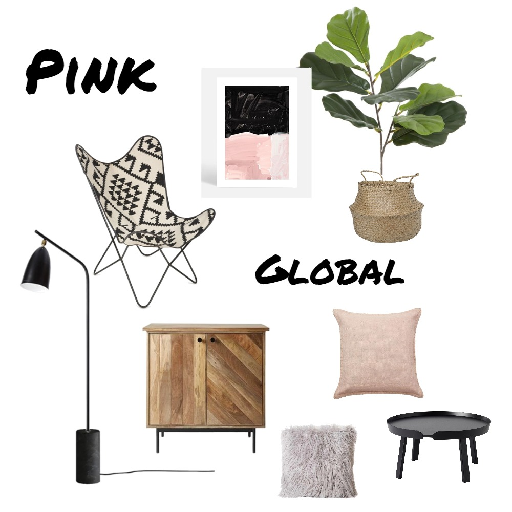 Pink Global Living Mood Board by Ariella on Style Sourcebook