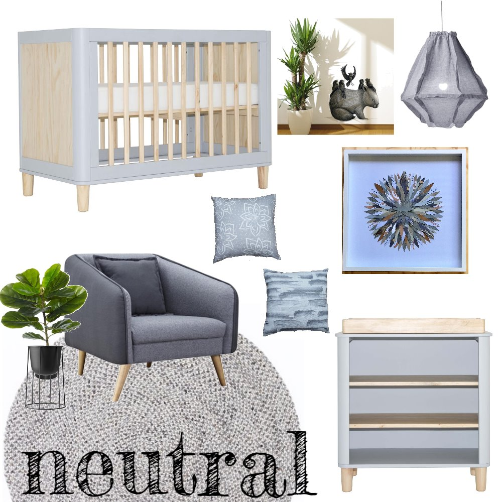 Neutral Nursery Mood Board by jakandcodesign on Style Sourcebook