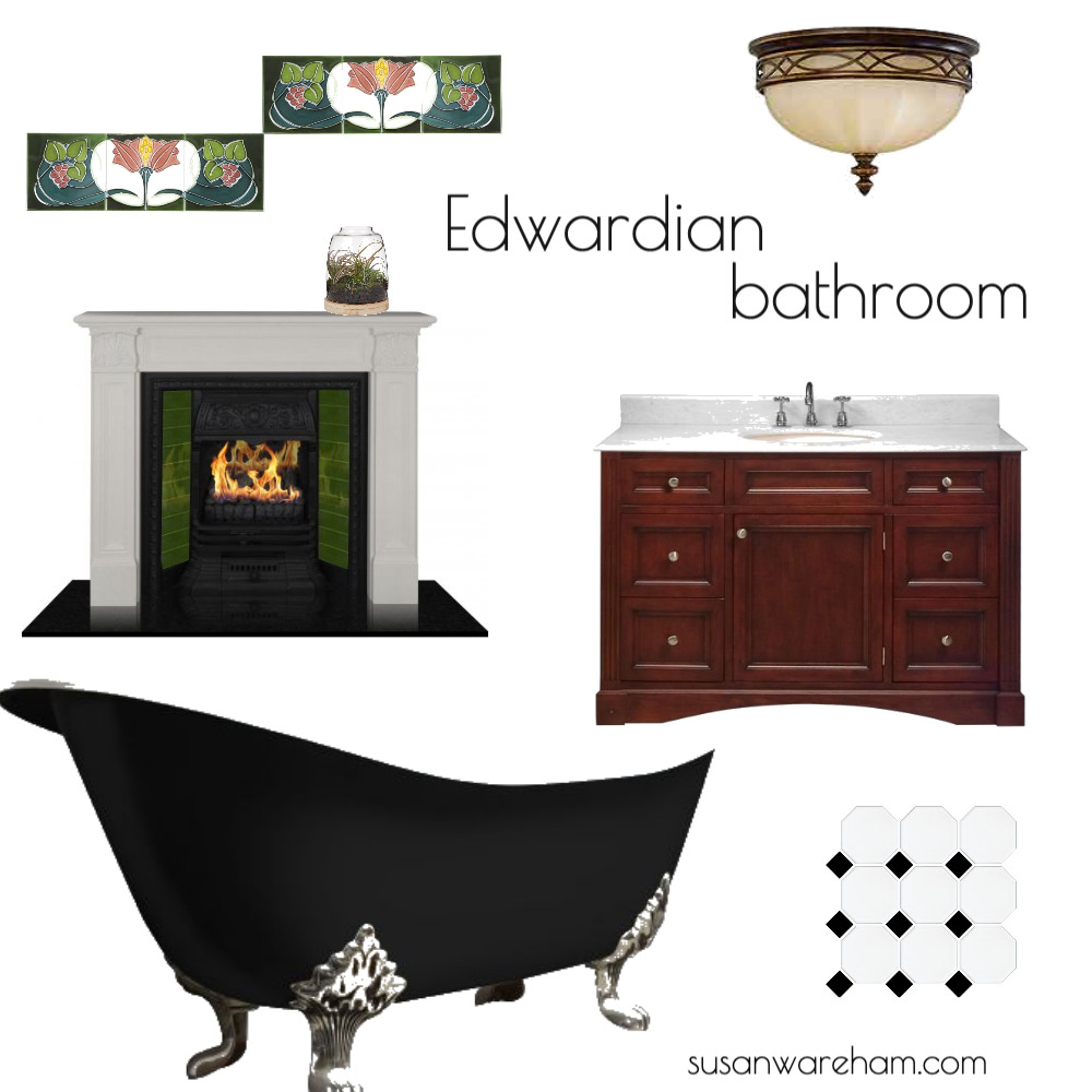 Edwardian bathroom Mood Board by www.susanwareham.com on Style Sourcebook