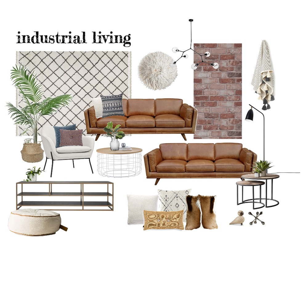 Industrial Living Mood Board by Bec Swanson on Style Sourcebook