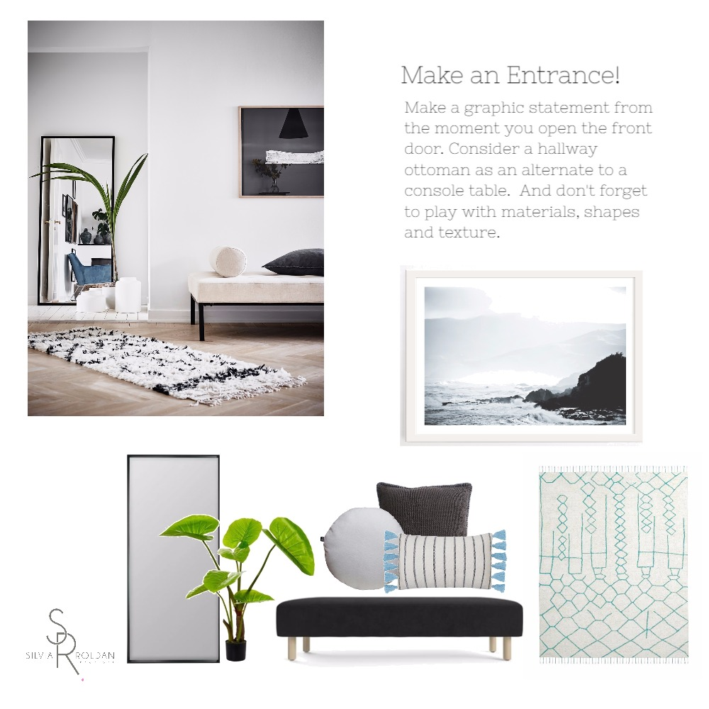 Make an Entrance Mood Board by Silvia Roldan Interiors on Style Sourcebook
