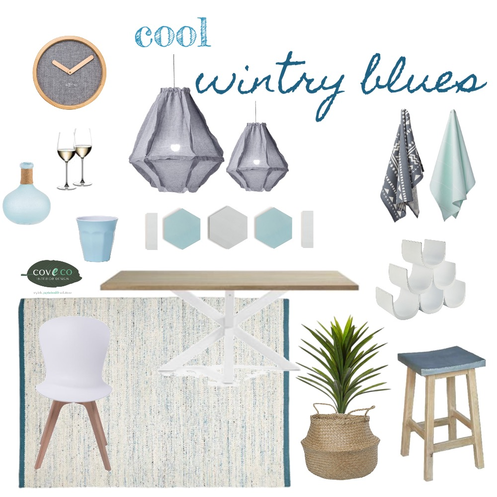 Cool Wintry Blues Mood Board by Coveco Interior Design on Style Sourcebook