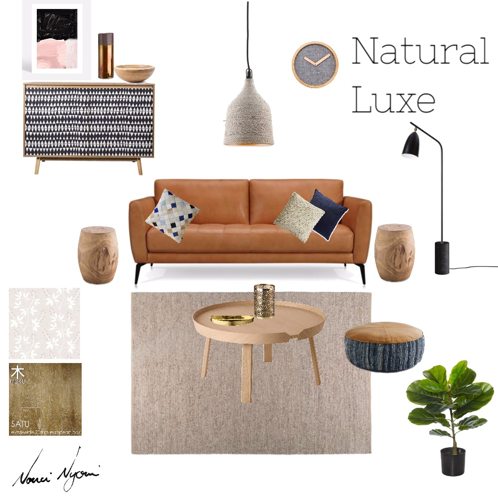 Natural Luxe Living Room Mood Board by Nonceba Nyoni on Style Sourcebook