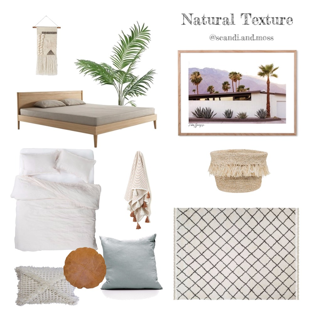 Natural Texture Mood Board by scandi.and.moss on Style Sourcebook