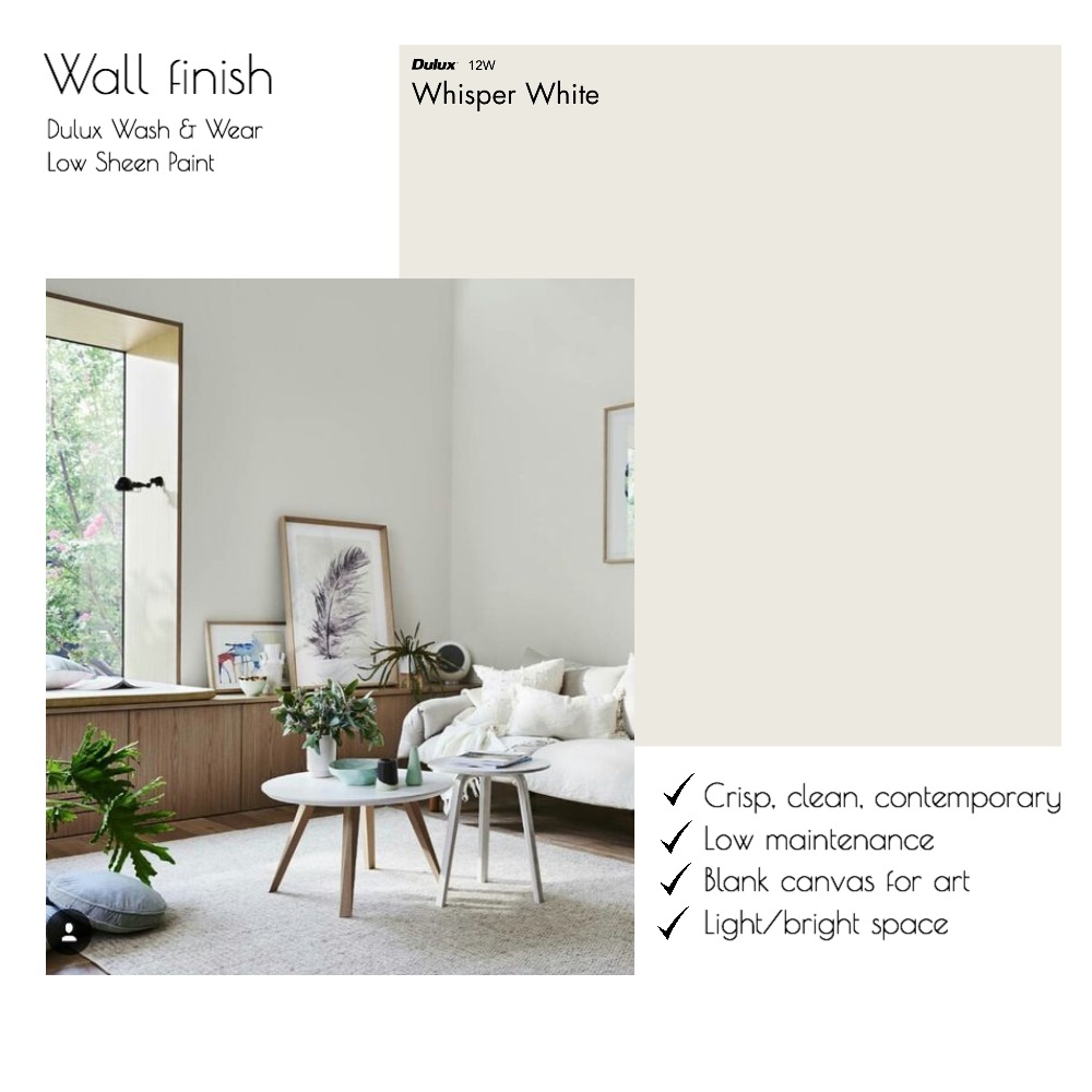 Dulux Whisper White Mood Board by hollymiskimmin on Style Sourcebook