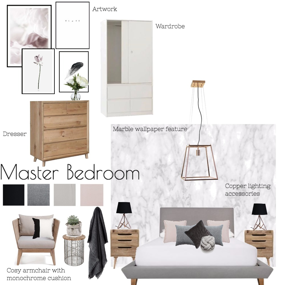 Master Bedroom 2 Interior Design Mood Board by howsonh on Style Sourcebook