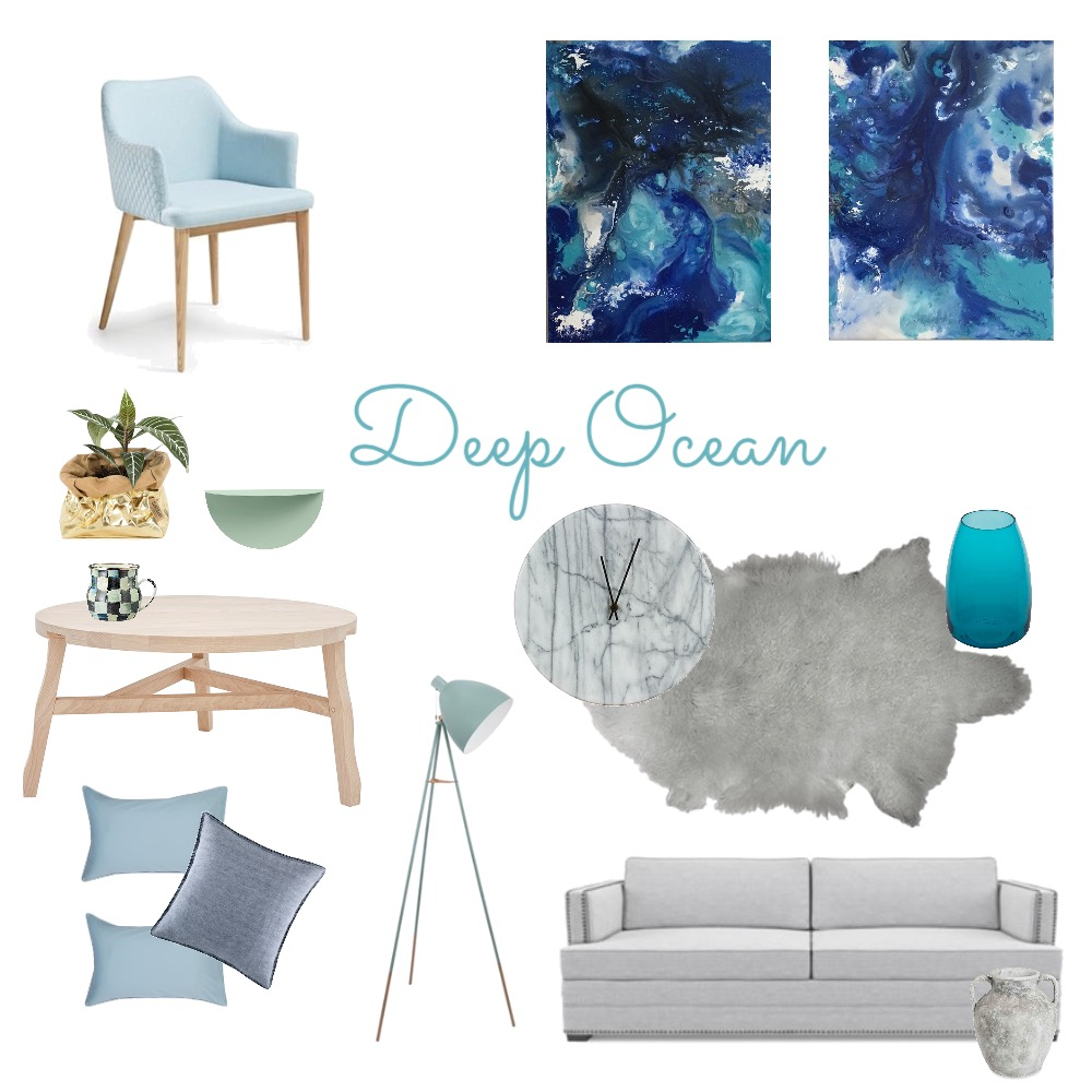 Deep Ocean Mood Board by artdesigncolour on Style Sourcebook