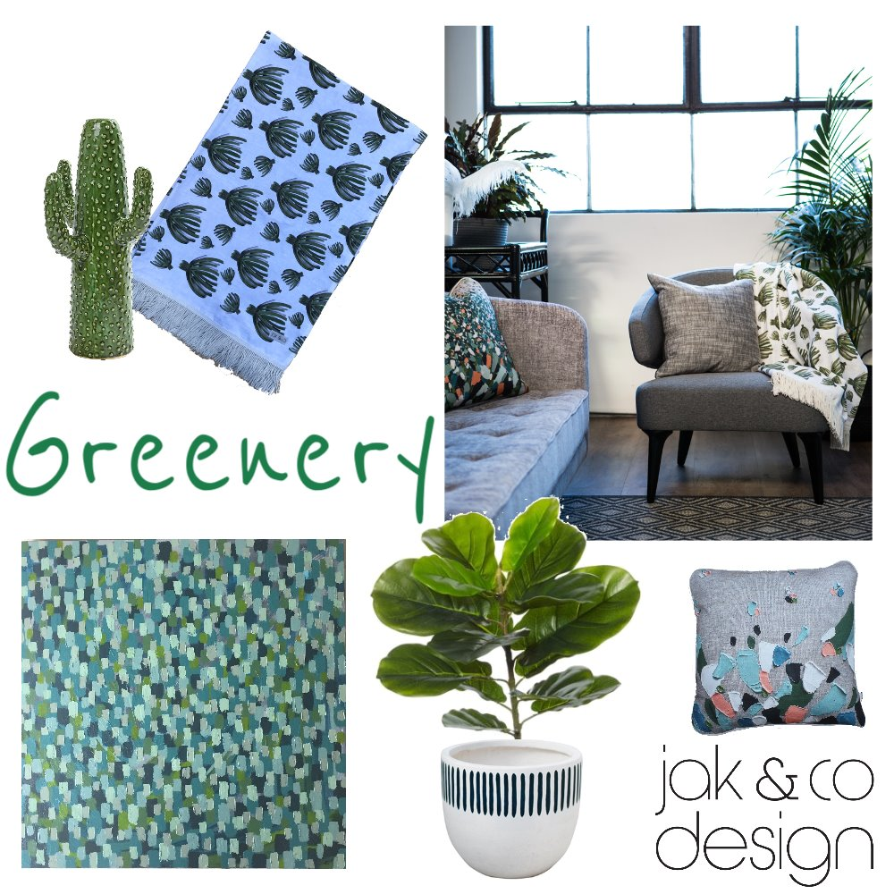 Greenery Mood Board by jakandcodesign on Style Sourcebook