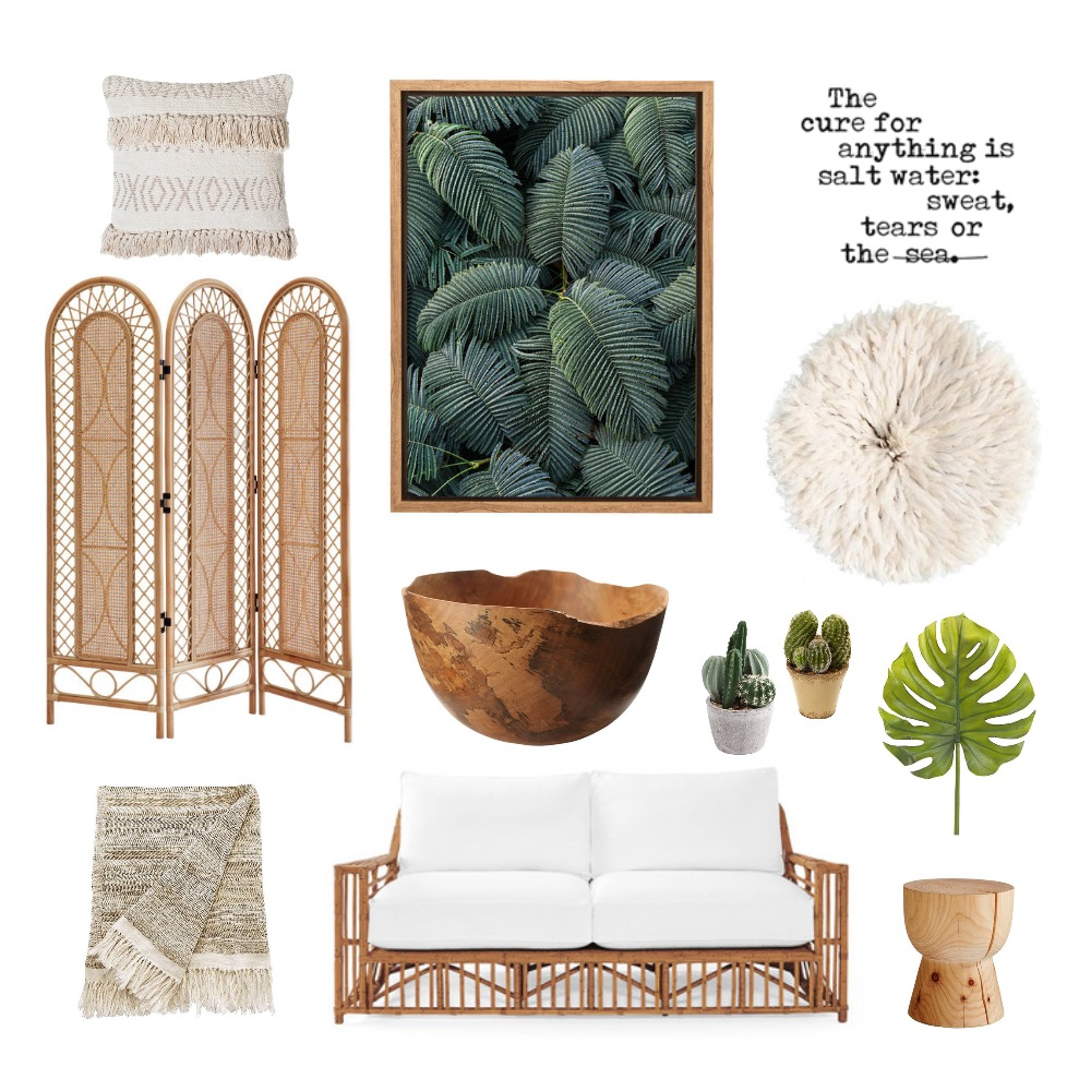 Tropical Boho Mood Board by CBInteriorDesign on Style Sourcebook