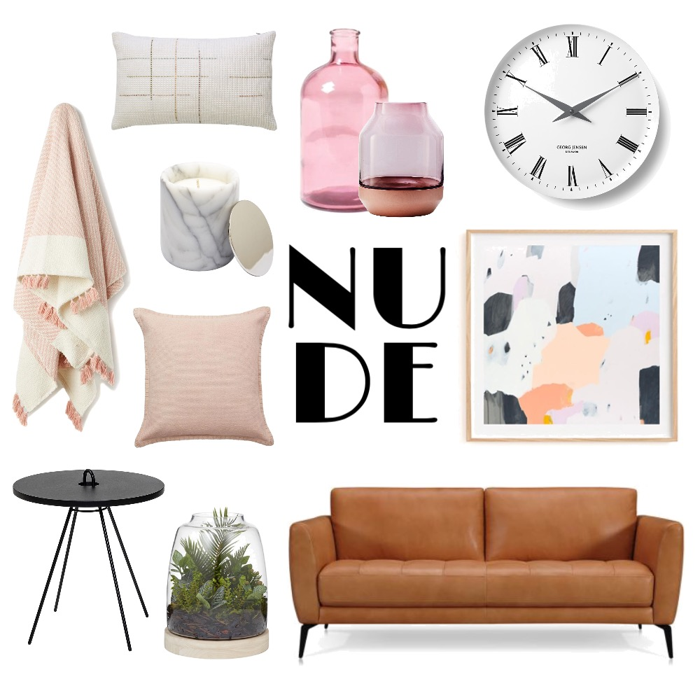 Nude Lounge Room Mood Board by CBInteriorDesign on Style Sourcebook