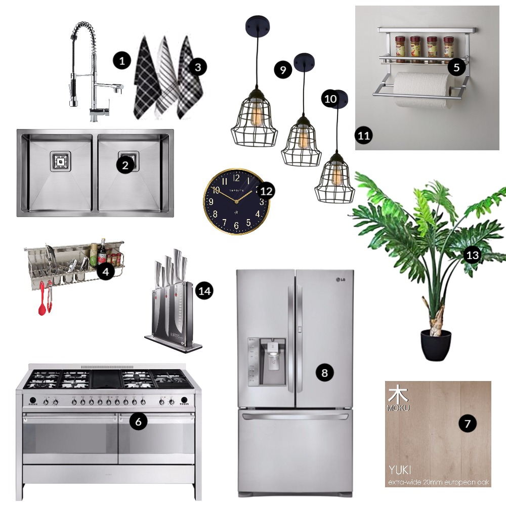 Sleek Kitchen Interior Design Mood Board by renovatormate on Style Sourcebook