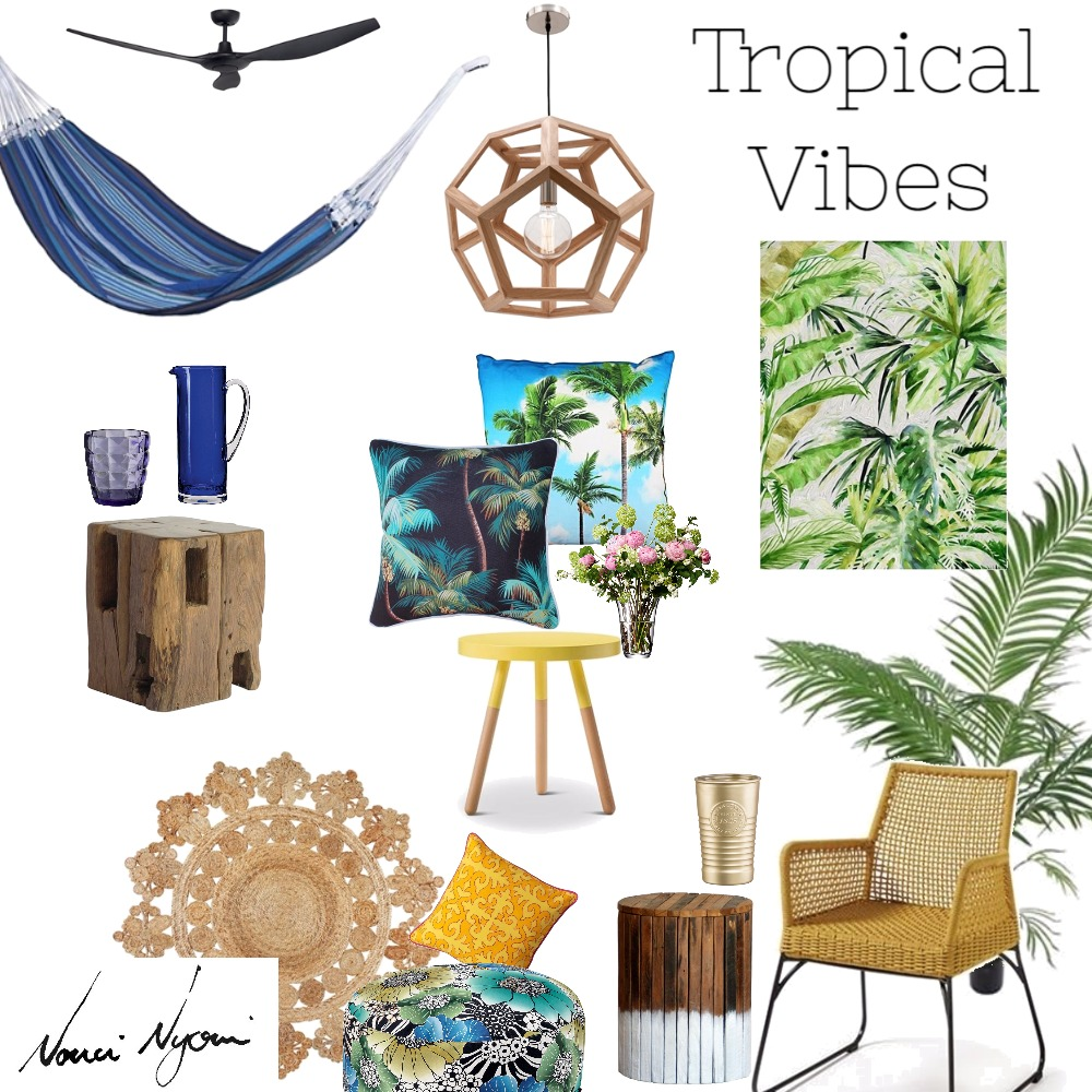 Tropical Vibes Interior Design Mood Board by Nonceba Nyoni on Style Sourcebook