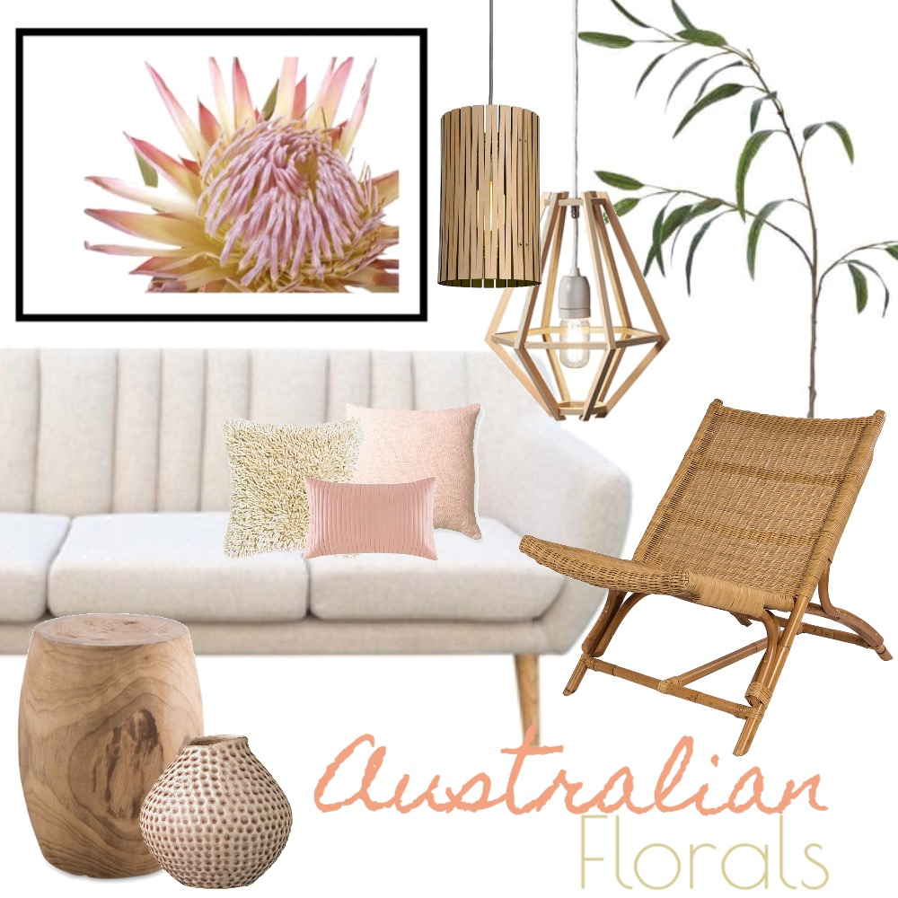 Australian Floral Mood Board by Silvergrove Homewares on Style Sourcebook