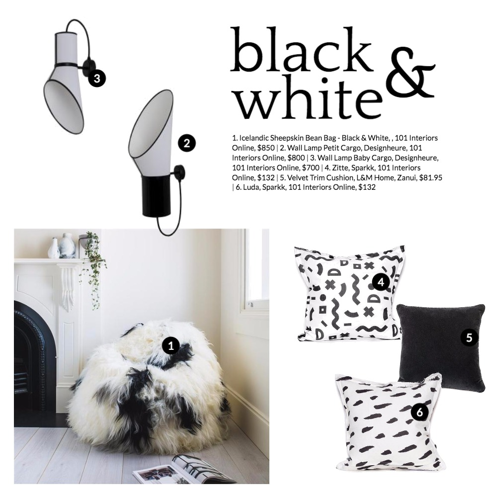 Black & White Mood Board by 101 Interiors Online on Style Sourcebook