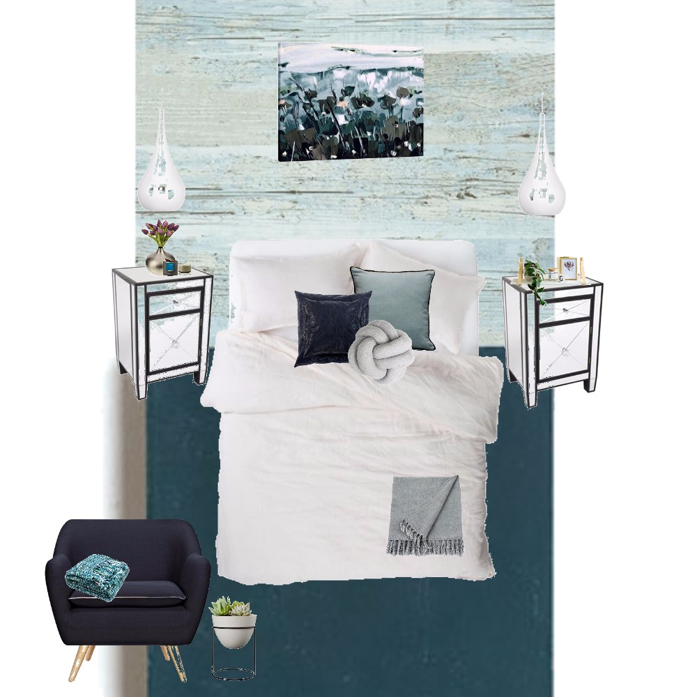 Teal Monochromatic Mood Board by Urban Aspect Interiors & Design on Style Sourcebook