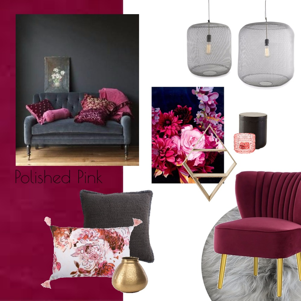 Polished Pink Mood Board by Thediydecorator on Style Sourcebook