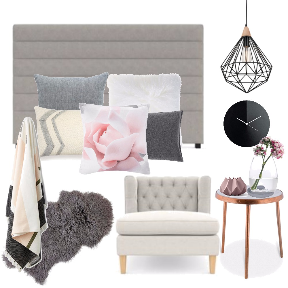 Pastel pink bedroom Mood Board by Kirsty on Style Sourcebook