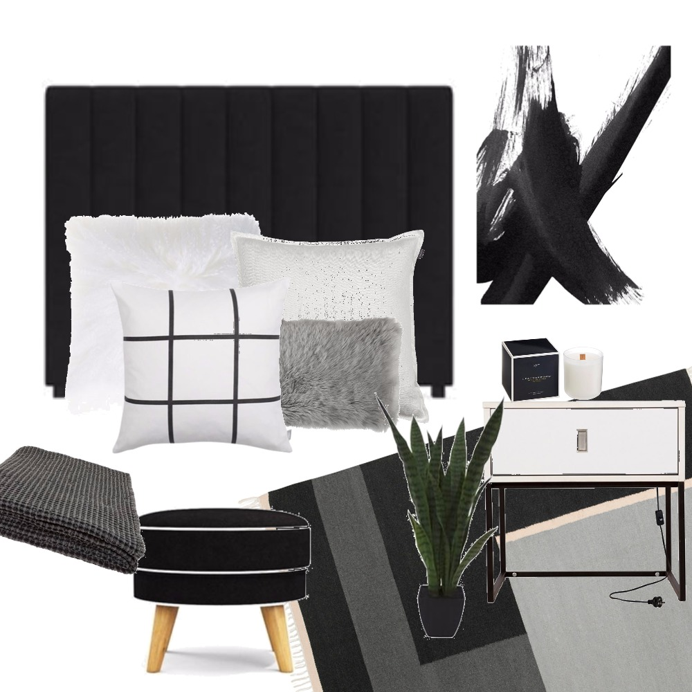 Monochrome bedroom Mood Board by Kirsty on Style Sourcebook