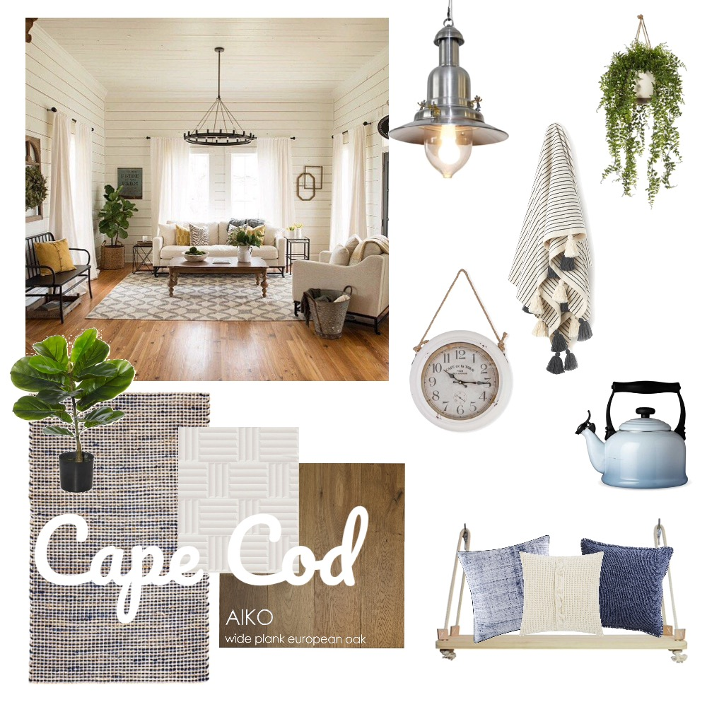 Cape cod Interior Design Mood Board by thebohemianstylist on Style Sourcebook