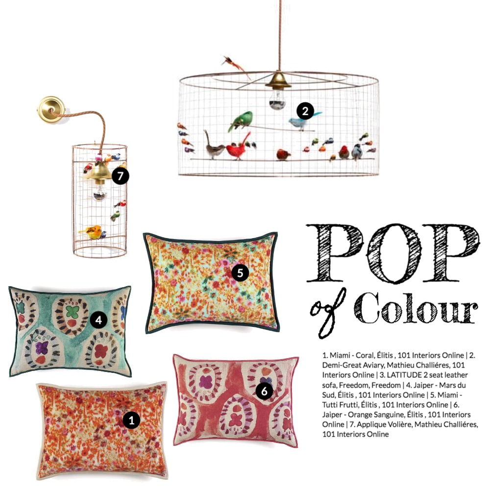 Pop of Colour Mood Board by 101 Interiors Online on Style Sourcebook