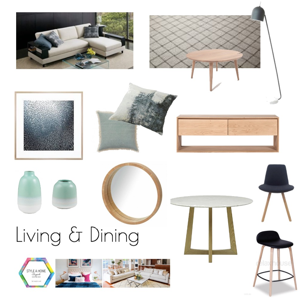Rosebud project -  Living/ Dining Mood Board by Ladymarmaladestyling on Style Sourcebook