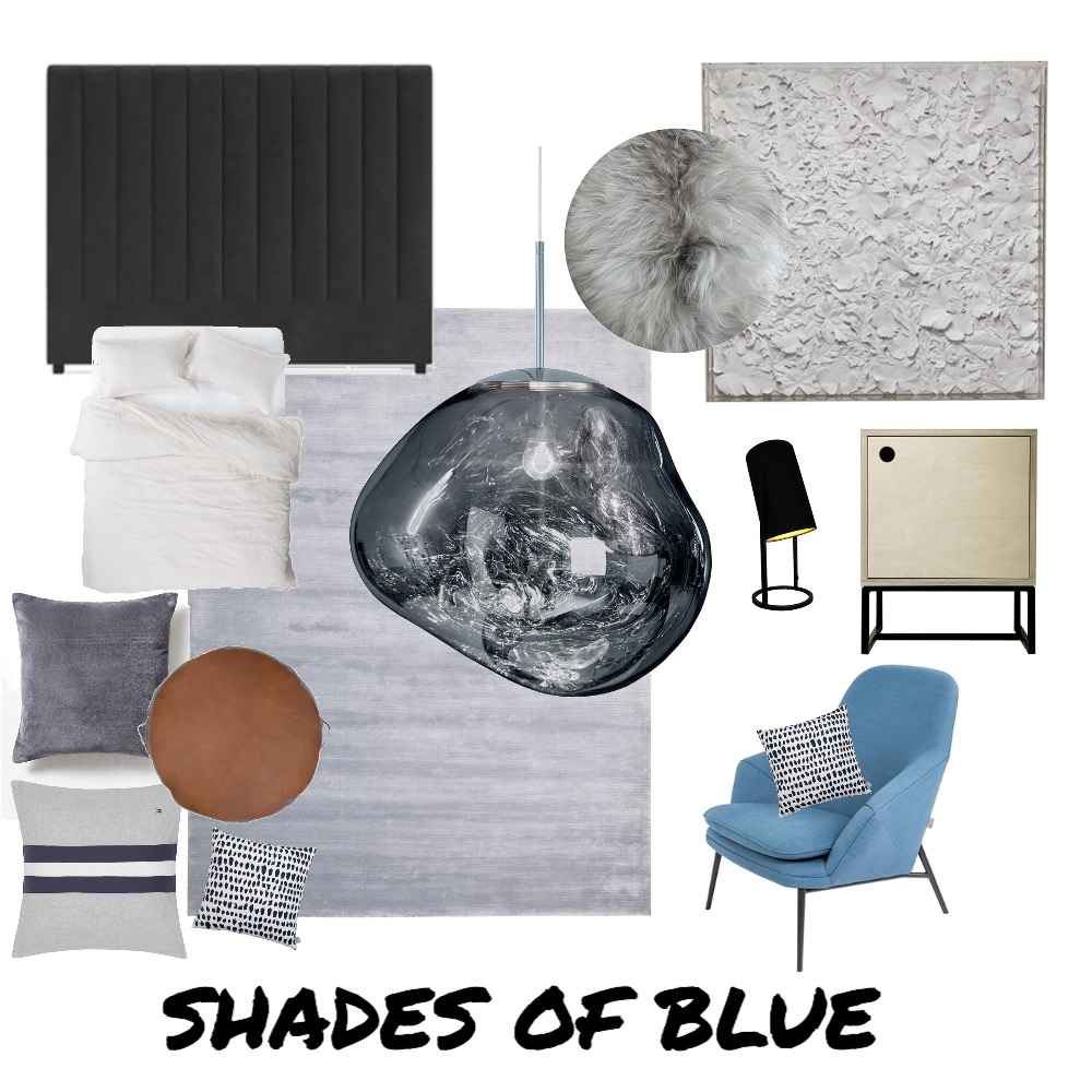 Shades of Blue Mood Board by Kate Vale / Design & Consulting  on Style Sourcebook