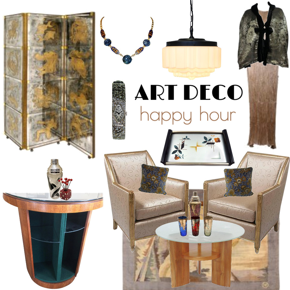 Art deco happy hour Mood Board by www.susanwareham.com on Style Sourcebook