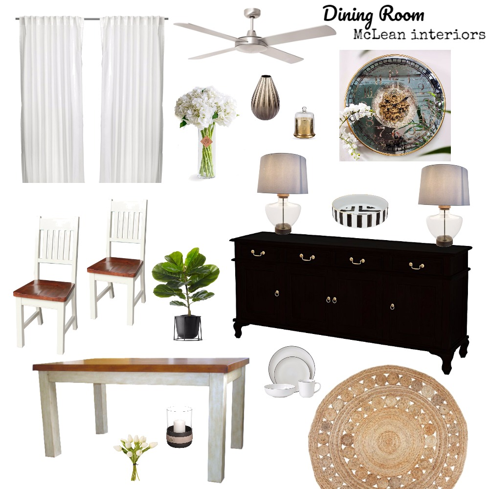 Dining Room Mood Board by mclean.interiors on Style Sourcebook