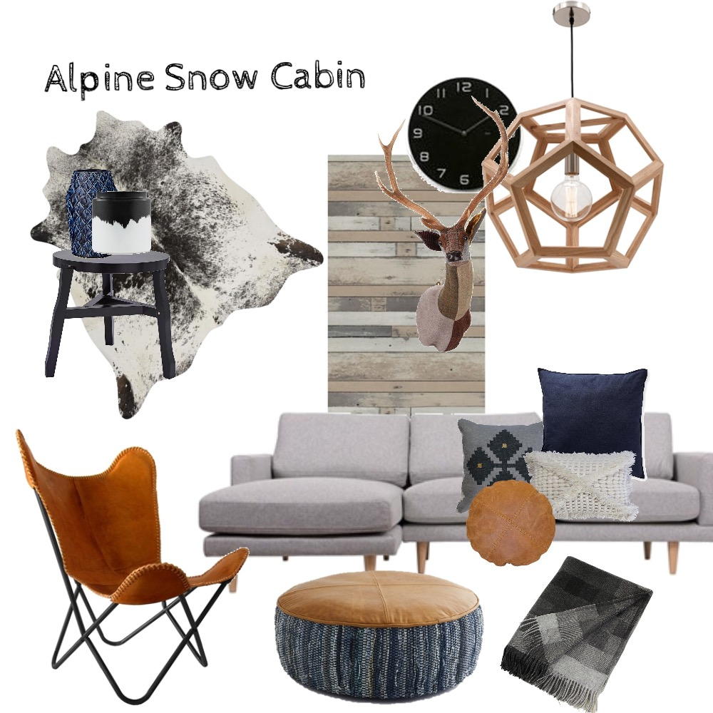 Alpine Snow Cabin Mood Board by Two Wildflowers on Style Sourcebook