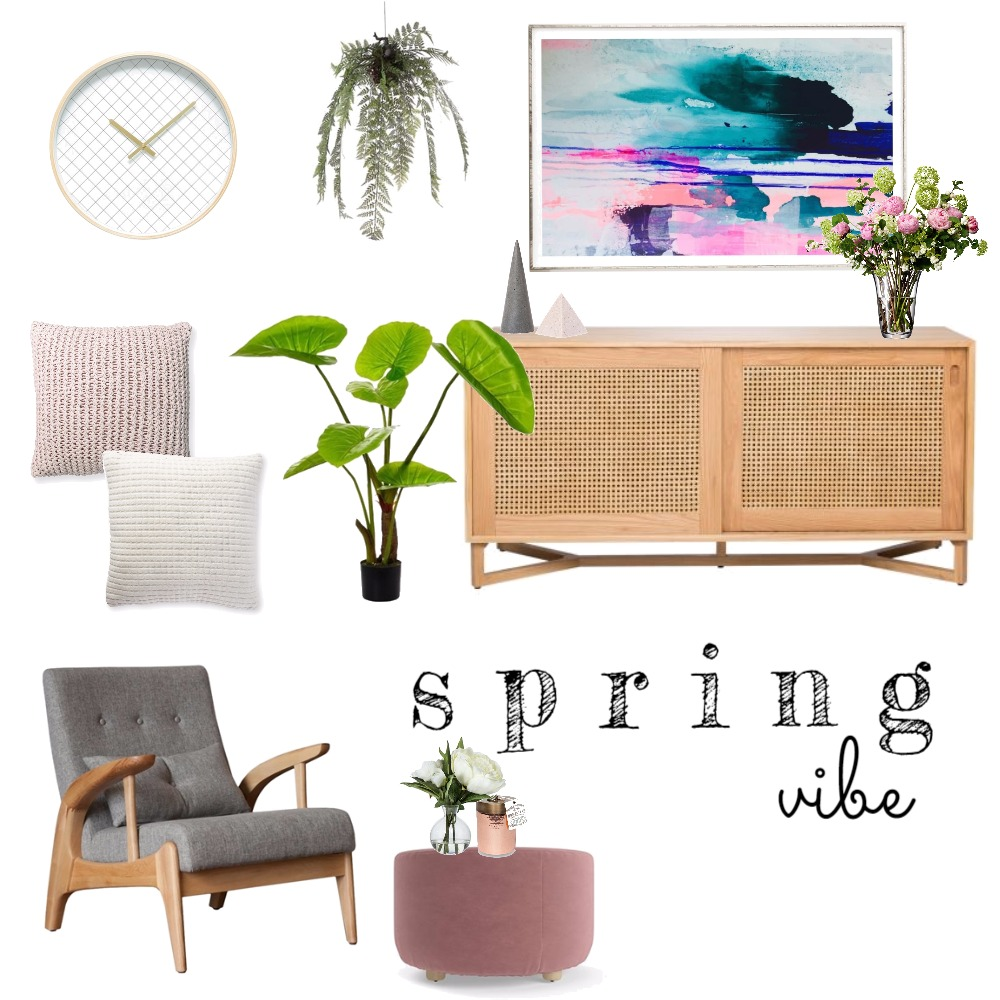 Spring Vibe Mood Board by Rebecca Kurka on Style Sourcebook