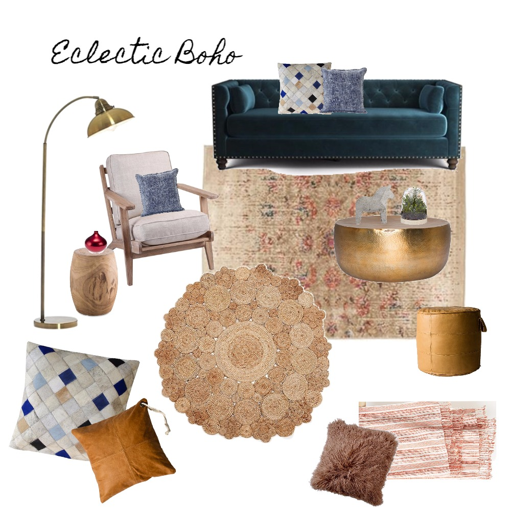 Living Room - Eclectic Boho Mood Board by Harvey Interiors on Style Sourcebook