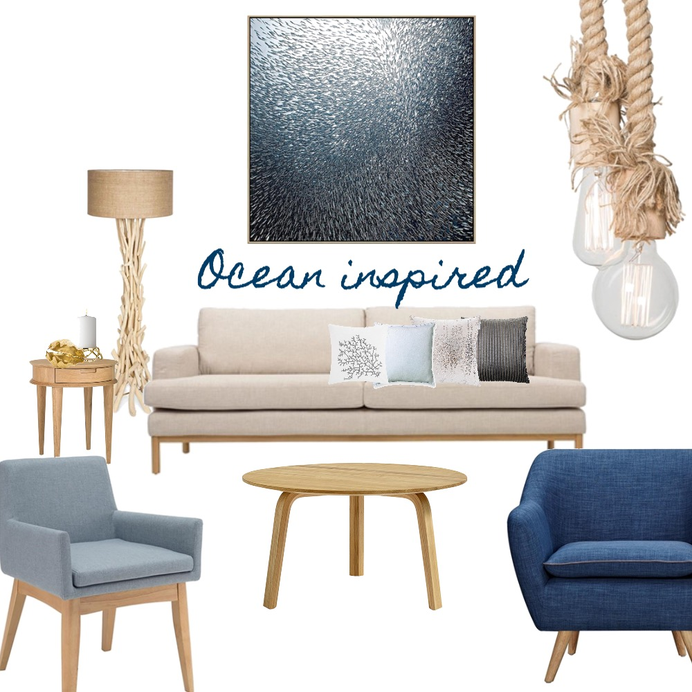 Ocean Inspired Mood Board by Silvergrove Homewares on Style Sourcebook