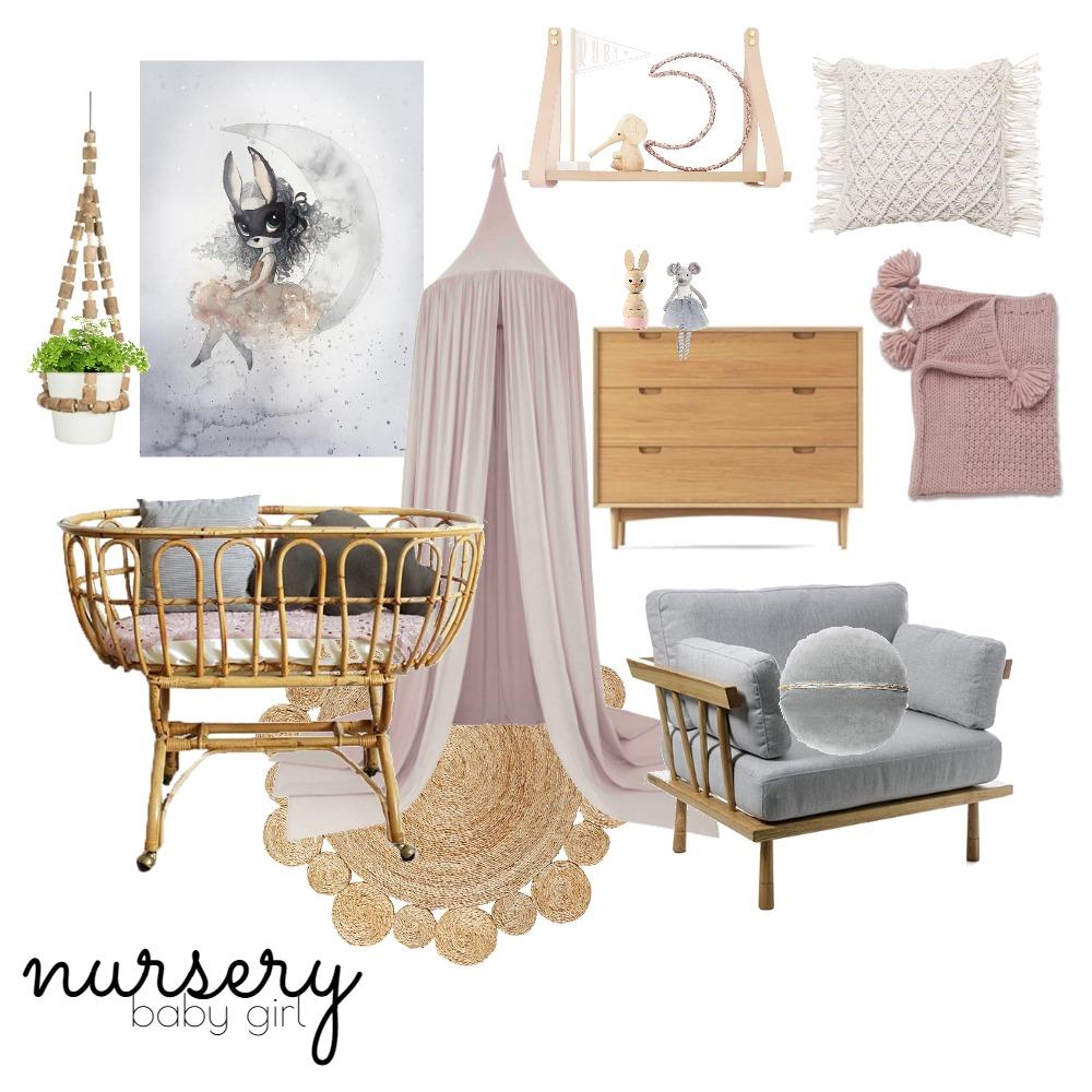 Nursery (Girl) Mood Board by Rebecca Kurka on Style Sourcebook