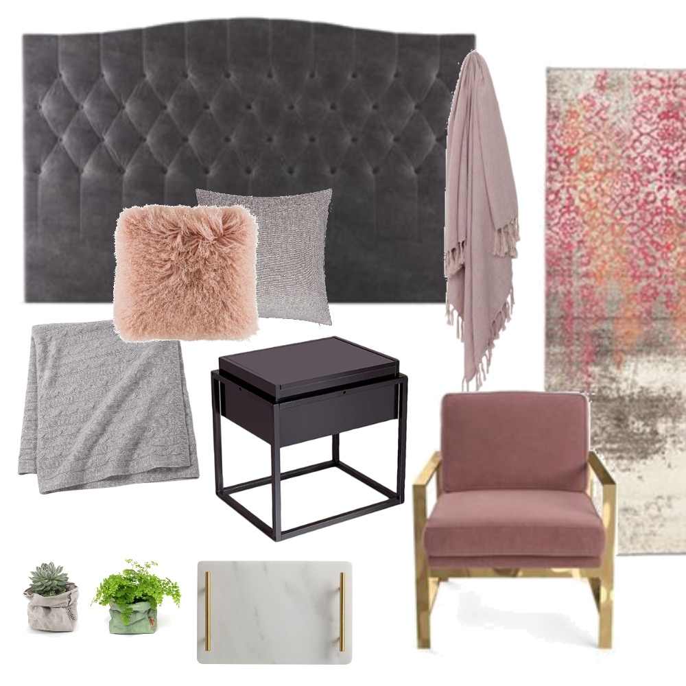 Blush Bedroom Interior Design Mood Board by mlavelle on Style Sourcebook