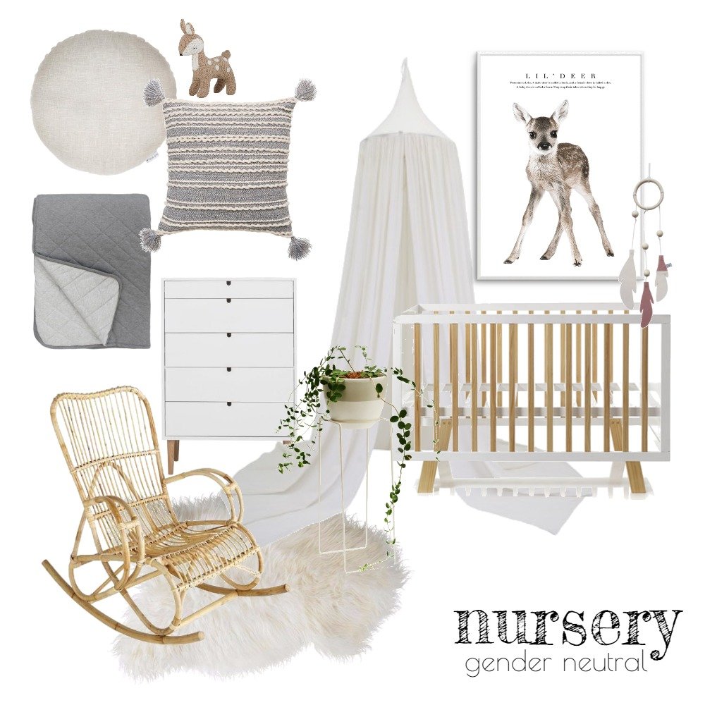 Nursery (Gender Neutral) Mood Board by Rebecca Kurka on Style Sourcebook