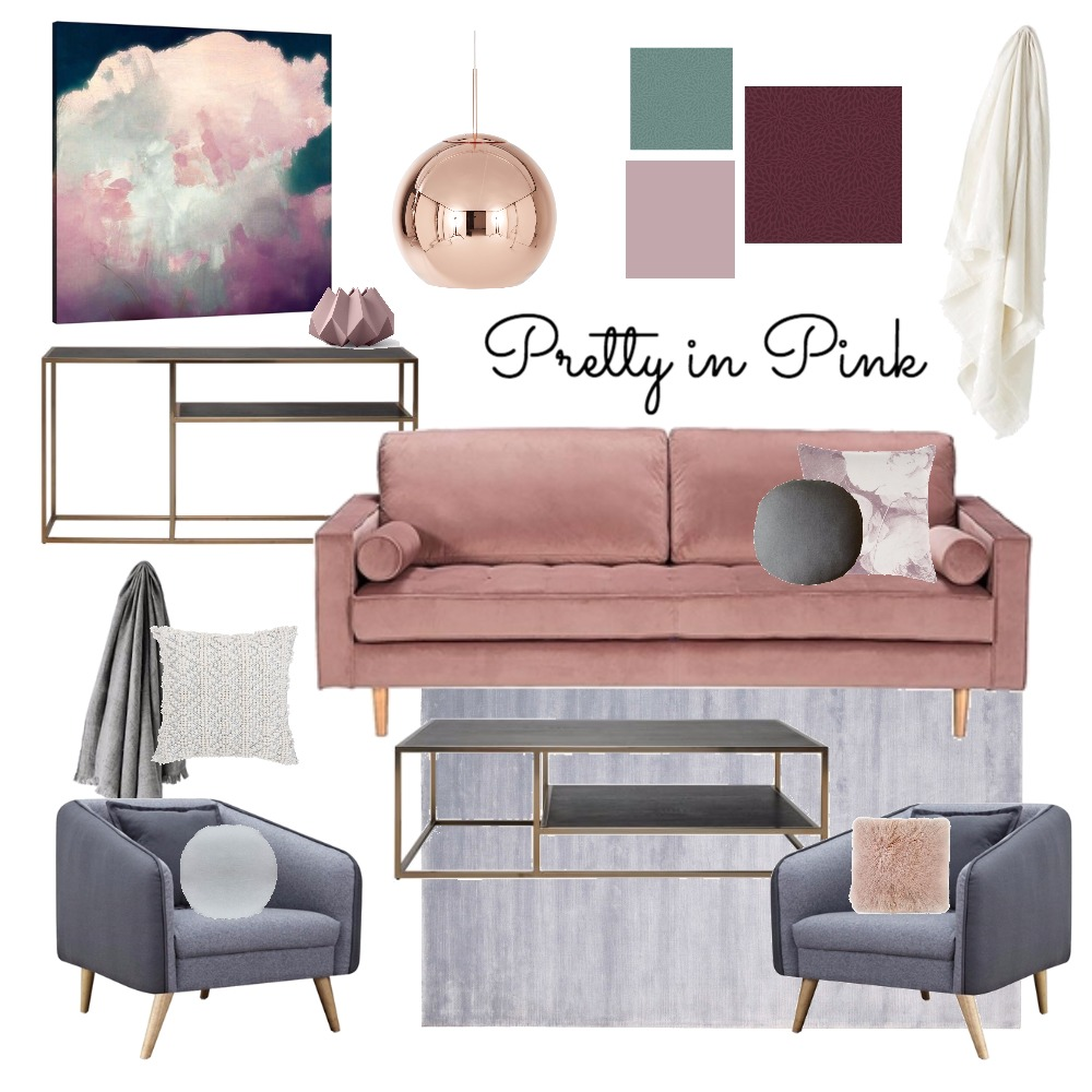 Pink Luxe Mood Board by My Kind Of Bliss on Style Sourcebook