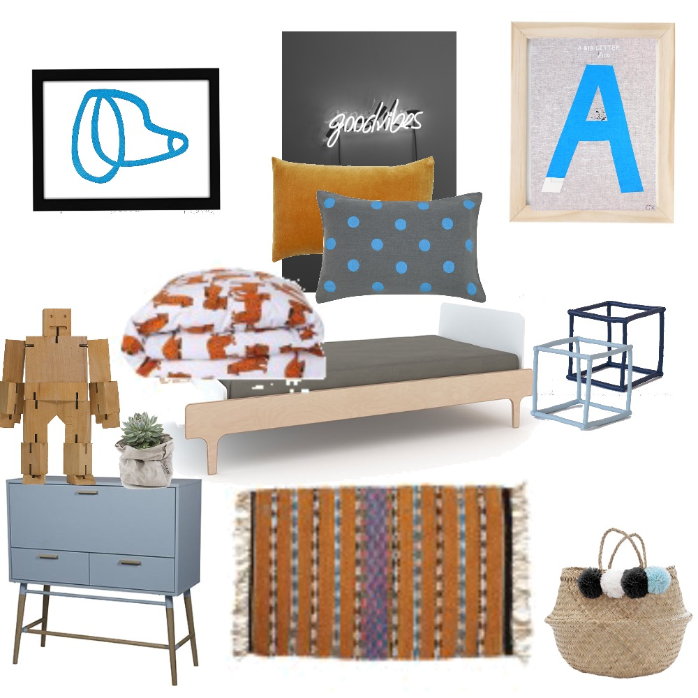 Boys Bedroom Mood Board by TheDesignSpace on Style Sourcebook
