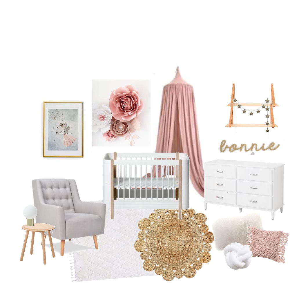 Girly Nursery Mood Board by srussell on Style Sourcebook