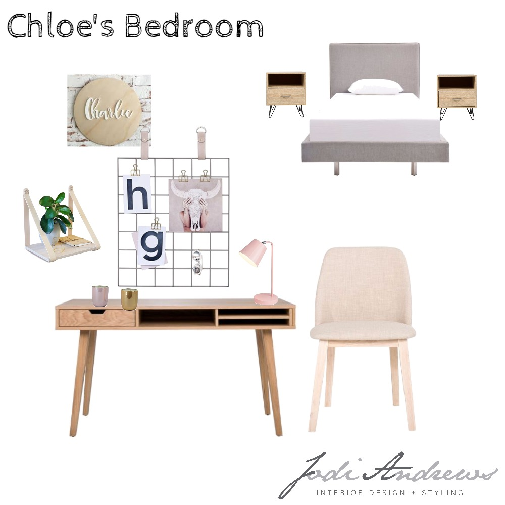 Moore Res - Chloe's Bedroom Mood Board by JodiAndrewsInteriors on Style Sourcebook