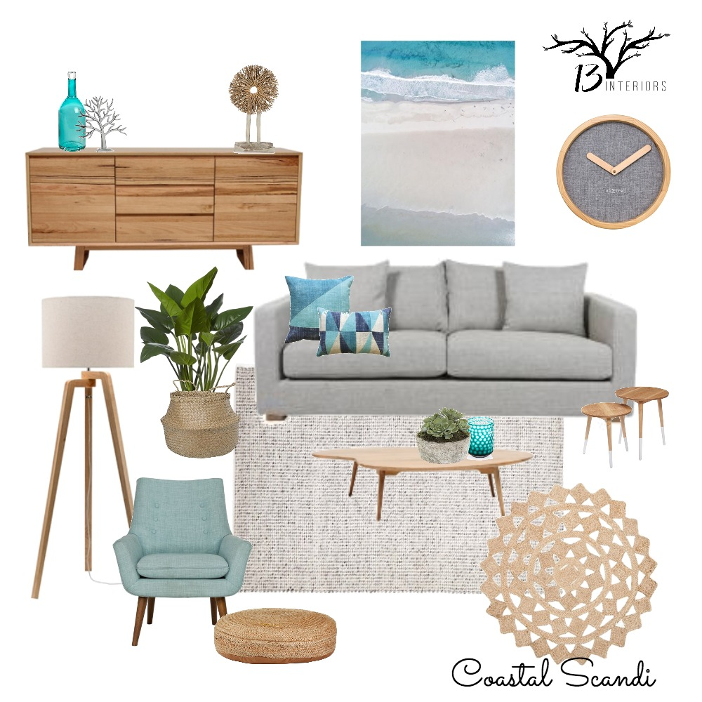 Coastal Scandi Abode Mood Board by 13 Interiors on Style Sourcebook