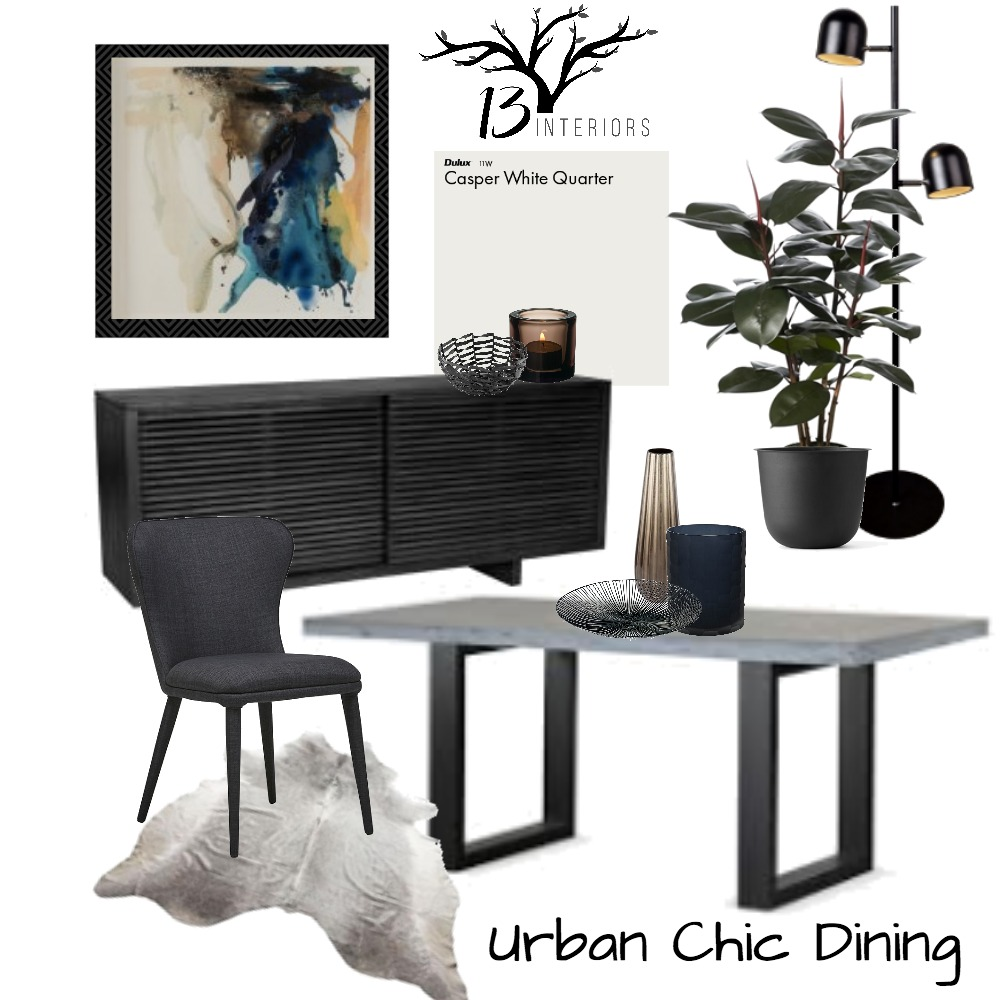 Urban Chic- Dining room Mood Board by 13 Interiors on Style Sourcebook