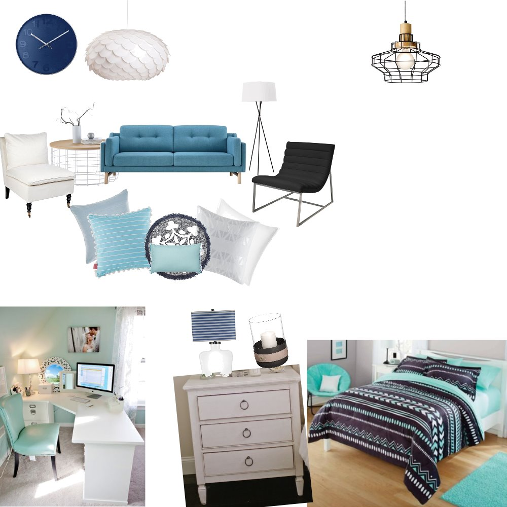 Alexis's Blue bedroom Mood Board by Evangeezy on Style Sourcebook