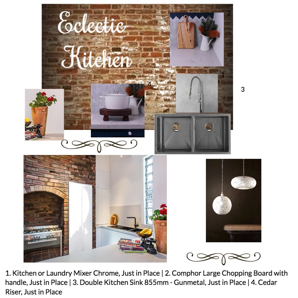 Eclectic Kitchen Mood Board by Just In Place on Style Sourcebook