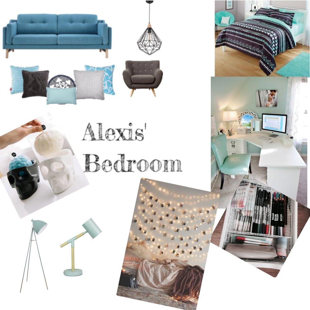 Alexis's Blue bedroom Mood Board by Evangeezy on Style Sourcebook